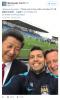 Sergio Aguero neemt foto met Xi Jinping